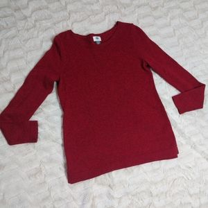 Old Navy Red Crew Neck Sweater